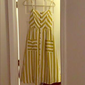 SheIn striped cami button-up dress